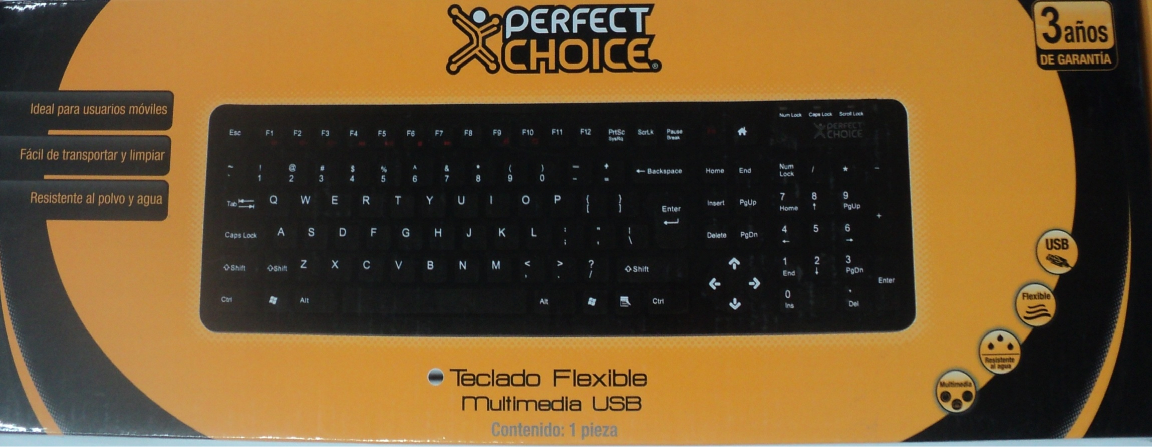 TECLADO PERFECT CHOICE FLEXIBLE
